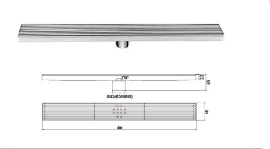 H-T120FZ-鋼條形地漏