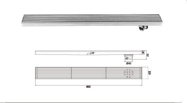 H-T120FY-鋼條形地漏