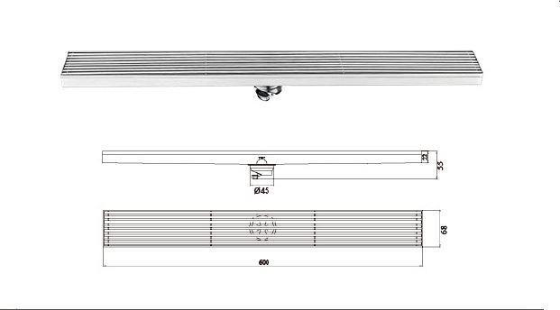 H-T120FX-鋼條形地漏