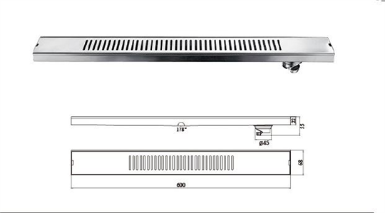 M-T120FY-直條形地漏