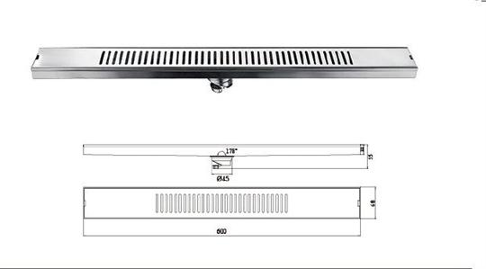 M-T120FX -直條形地漏