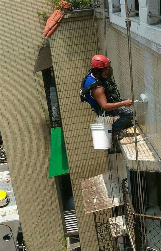 蜘蛛人外牆防水