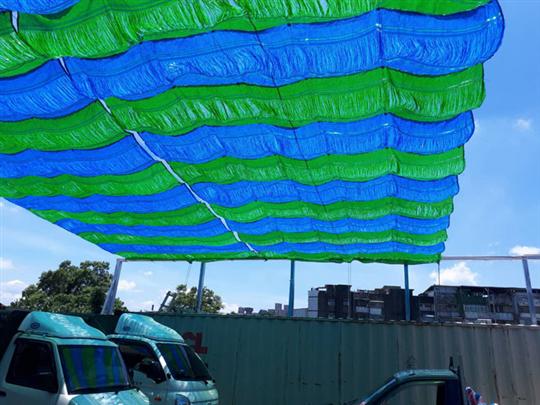 停車場手動式遮陽網