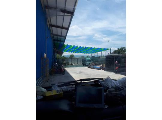 停車場手動式遮陽網-1