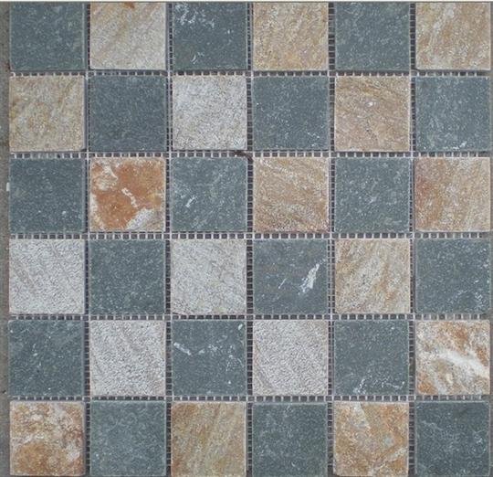 4-板岩馬賽克-MA148-2131(黃木紋+綠板)