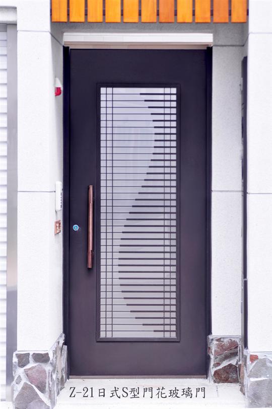 18-TM-Z21日式S型門花玻璃門