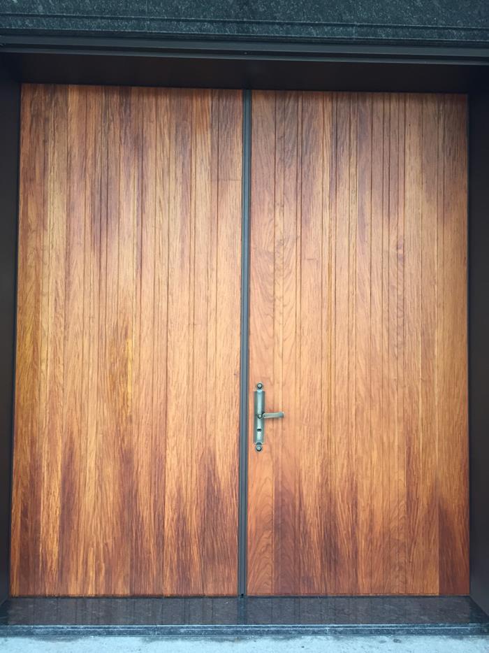 39-宜蘭林宅玄關大門-鋼木門