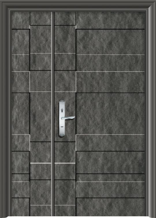 全石紋鑄鋁鋼木門