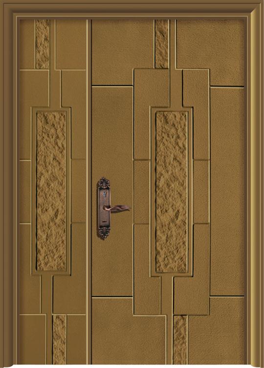 中石紋鑄鋁鋼木門