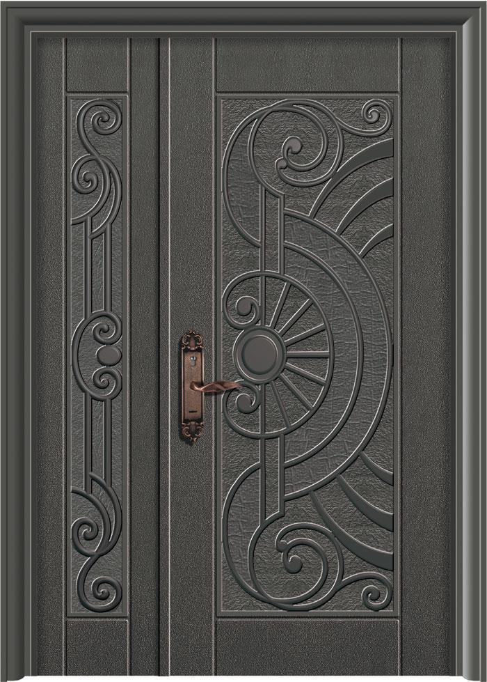 合家歡鑄鋁鋼木門