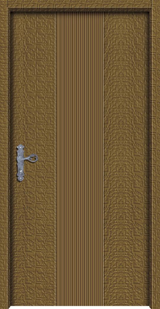 直條鑄鋁直卡板雕門