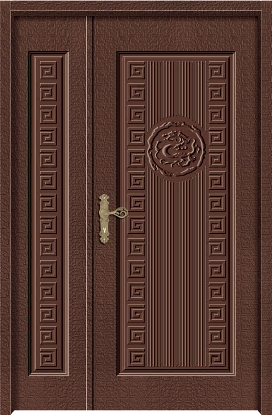 龍展內玄關壓花門