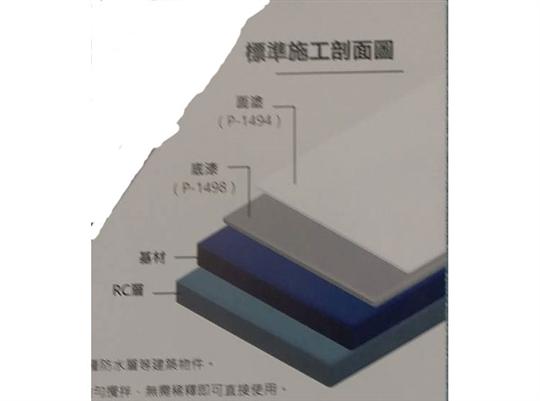白隆漆 標準施工剖面圖