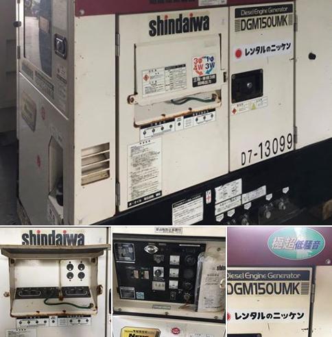 日本輸入中古發電機-MODEL:DGM150UMK