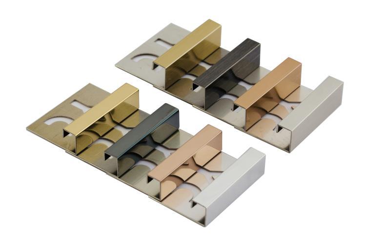 不鏽鋼鍍鈦方型磁磚收邊條