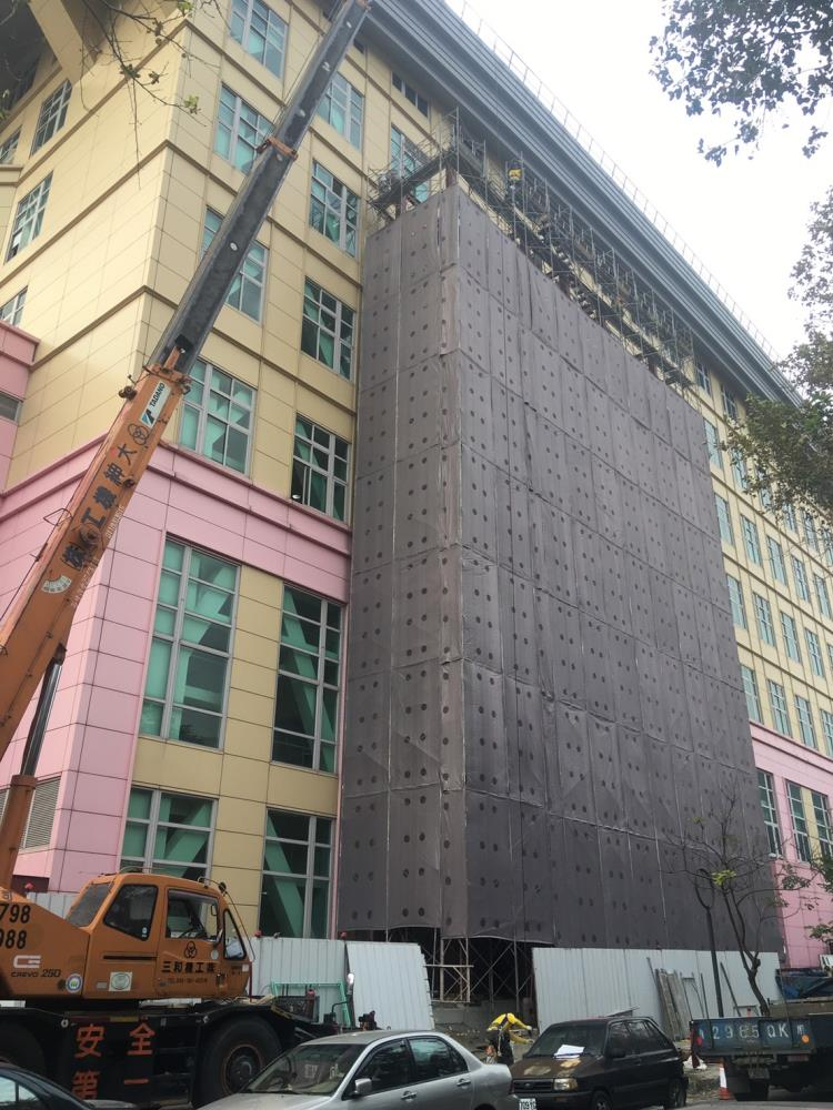 外牆整修鷹架工程-台北市立大學天母校區