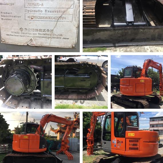13-日立挖土機HITACHI ZX75US-A