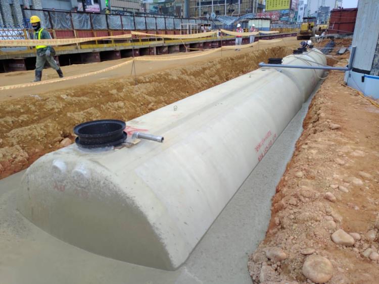 臺灣桃園國際機場聯外捷運系統A22,A23車站污水處理設備工程