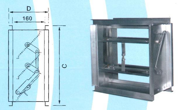 11- 風管內防火風門 ZX-YA1