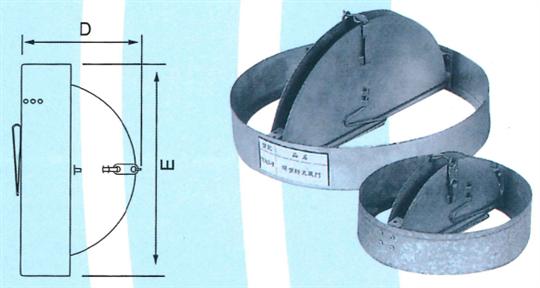 13- 進口圓型防火風門ZX- YAC1