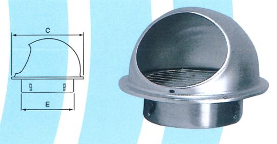 34- 鋼盔型外氣口 ZX-QK