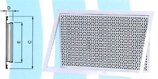41- 回風花板附框 ZX-HAK