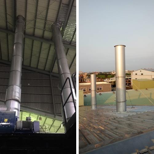57- 煙囪管道工程、屋頂煙囪工程
