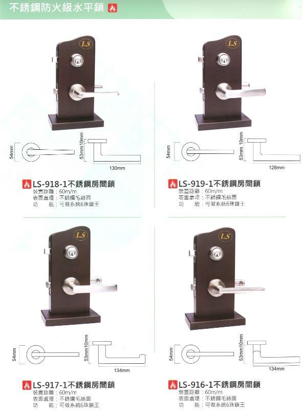 52- 不銹鋼防火級水平鎖
