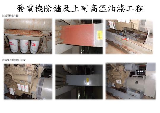 台北市松山區發電機除鏽、上耐高溫油漆