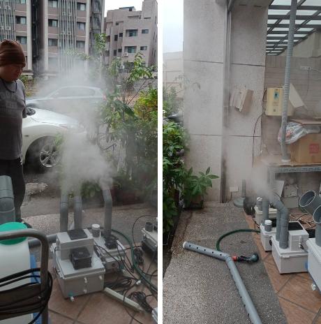 9- 殺菌噴霧工程、噴霧降溫工程