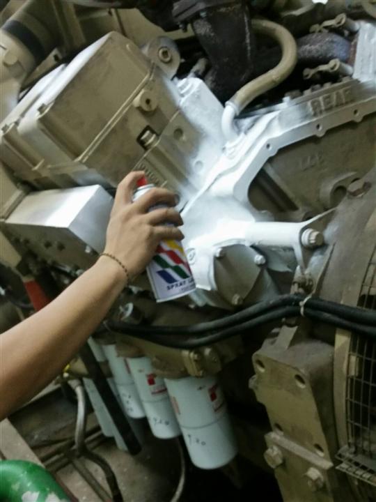 台北大專院校-發電機大學協助補漆