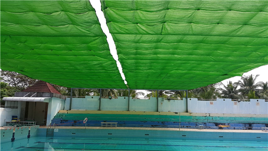 大同高中游泳池電動遮陽網