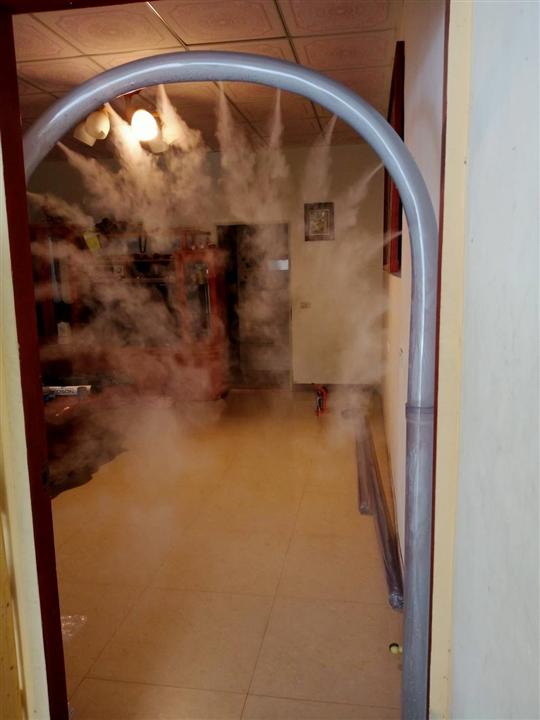1- 造霧消毒門工程、噴霧消毒門工程