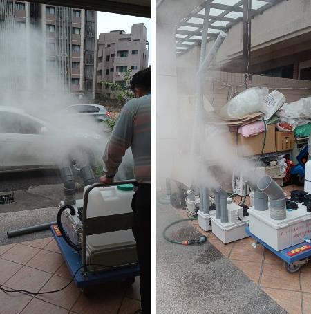 10- 噴霧工程、噴霧降溫工程