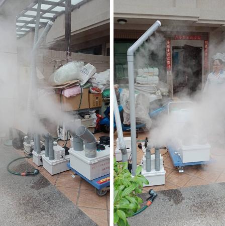 11- 殺菌噴霧工程、噴霧降溫工程