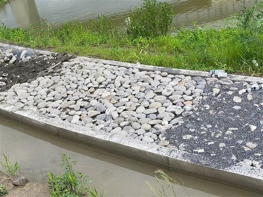 17- 屏東卵石鋪設、漿砌石擋土牆