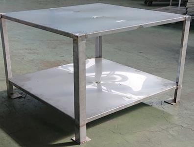 不銹鋼二層正方形工作桌(架)
