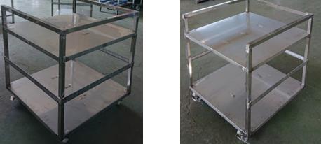 不銹鋼二層正方形置物架