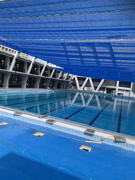 活動遮陽網 國立成功大學室外遊泳池