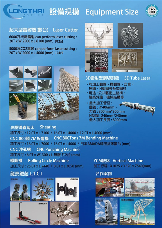 龍泰鋼鐵金屬加工製品