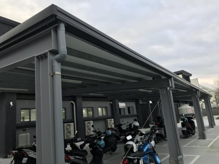 停車場鋼構雨遮工程