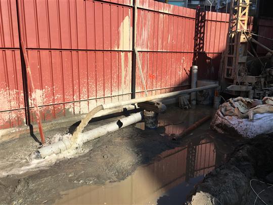 密集斜井抽水法