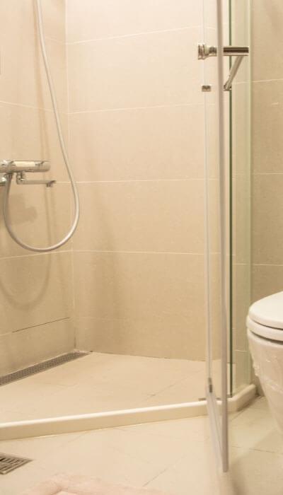 27- HG系列-全不銹鋼天地鉸鍊無框淋浴門-客製化開門角度