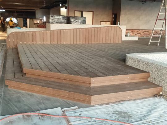 戶外塑木平台、塑膠仿木平台、塑膠仿木欄杆02-2985-8878