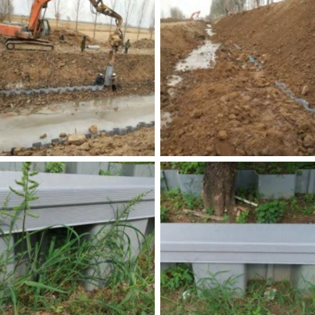 環保塑鋼板樁-農田水利灌排渠道