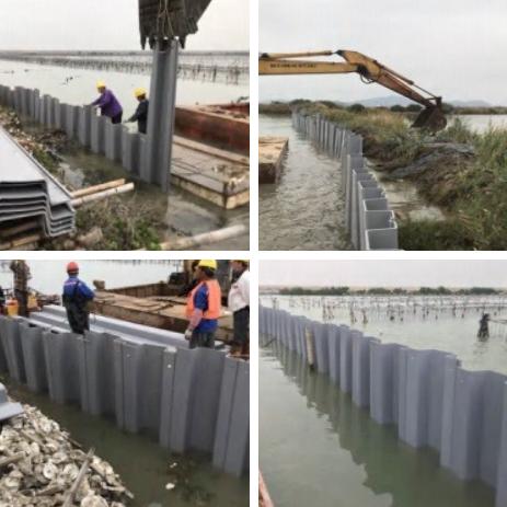 環保塑鋼板樁-水閘.堤防防護