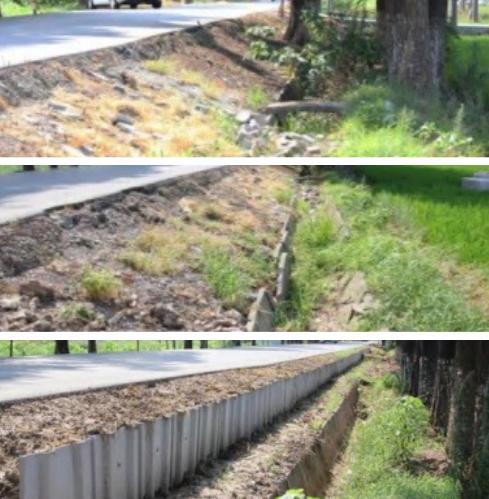 環保塑鋼板樁-道路邊坡