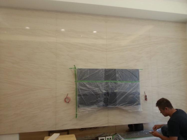7-電視牆石材施工