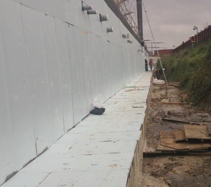 連續壁防水回填