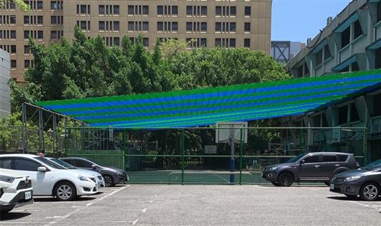 東門國小二期工程~彩色遮陽網